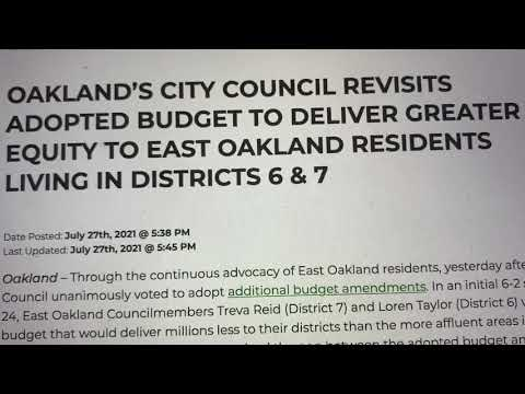 East Oakland Councilmembers Taylor And Reid Must Implement AB 464 Now To Help Small Business - Vlog
