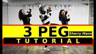 3 Peg Sharry Man Bhangra Dance Tutorial | 3 Peg Easy Dance Choreography | FITNESS DANCE with RAHUL