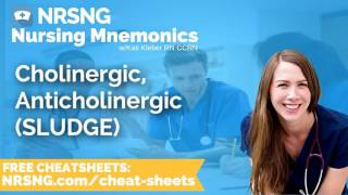 Cholinergic, Anticholinergic SLUDGE Nursing Mnemonics, Nursing School Study Tips