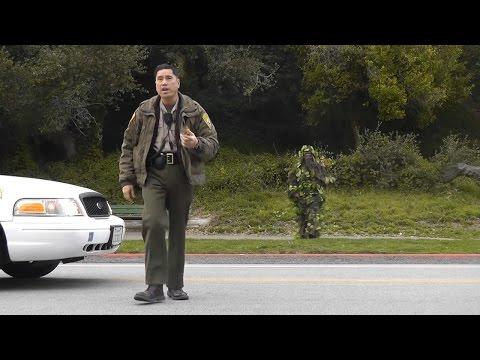 COPS CALLED Prank Gone WRONG BUSHMAN SCARE PRANK @funny @scareprank @prank @funnyvideo