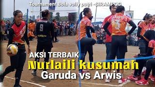 Aksi Terbaikk!!! Nurlaili Di Tournament Bola Volly Putri -SIRAMPOG
