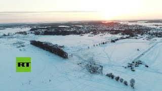 Revelan imágenes aéreas del lugar de la tragedia del An-148