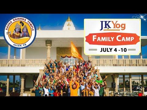 JKYog brings the best Hindu Family Camp Ever - Radha Krishna Temple of Dallas summer family camp
