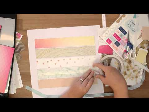 Love this: Scrapbooking layout for Paper Camellia