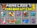 Minecraft POKEMON LET'S GO MOD | PIKACHU, NEW POKEMON, LEGENDARIES, MEGAS!!