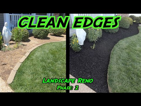 Clean Edges And Mulching Flower Beds   Landscaping Renovation: Phase 2