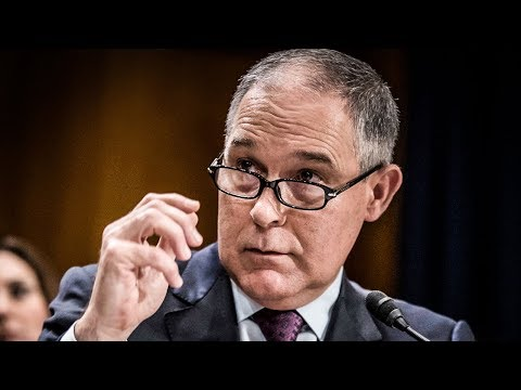 """EPA Head Says He Has To Fly First Class Because Of """"Safety Concerns"""""""