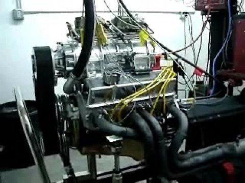 Blown SB Chevy 406 Engine 6-71 blower 700+HP