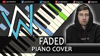 Faded Song Alan Walker | Piano Cover Chords Instrumental By Ganesh Kini
