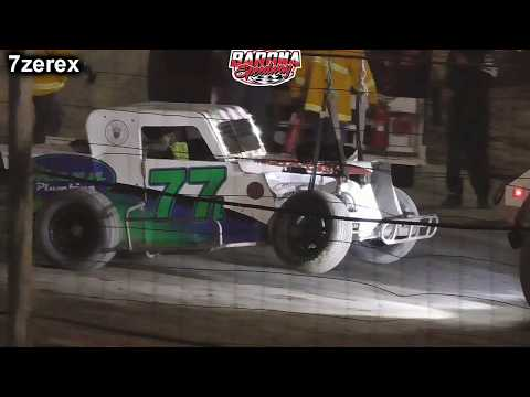 Dwarf Car 77 Phil Confer Hard Crash Barona Speedway 11-16-2019