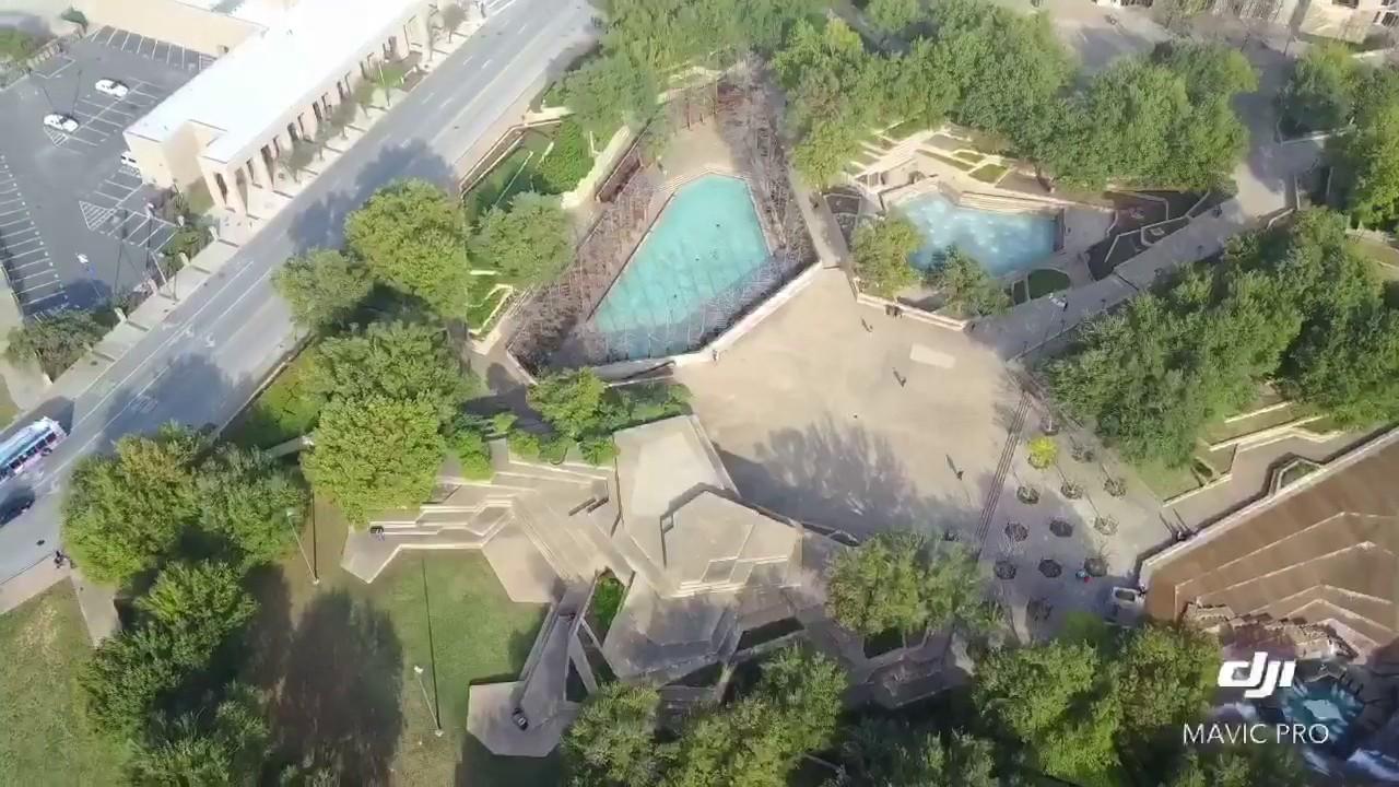 Fort Worth water gardens dji mavic pro YouTube