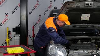 How to change Air Filter on FIAT DOBLO Box Body / Estate (263) - online free video