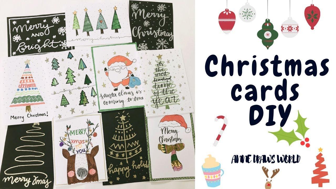Christmas Cards DIY   10 cách trang trí thiệp Giáng Sinh