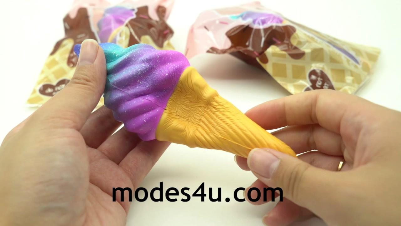 Galaxy Ice Cream Scented Squishy By Puni Maru Youtube