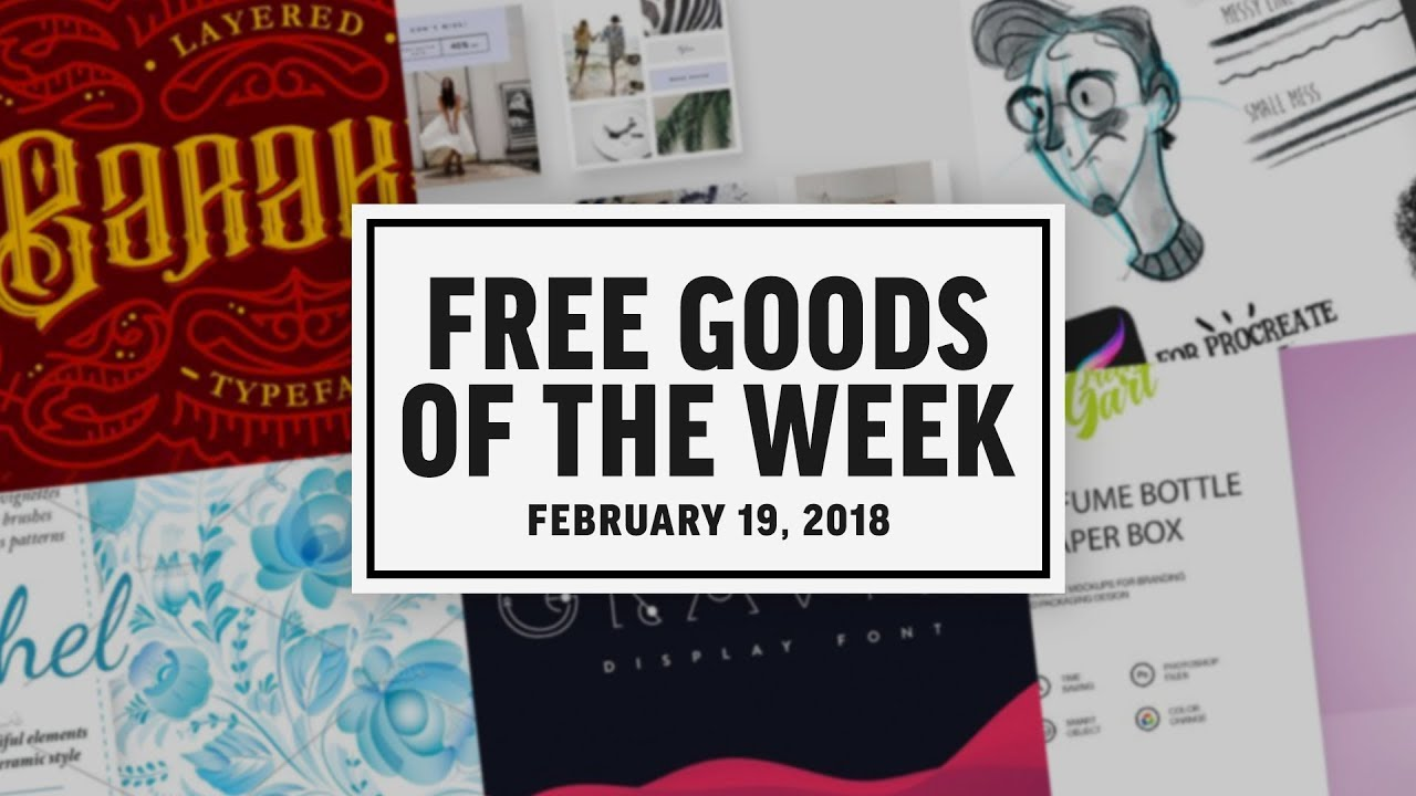 Creative Market Free Goods | Week of February 19, 2018