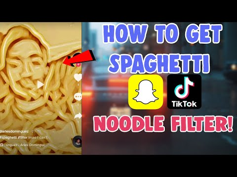 How To Get Noodle Filter Tiktok Snapchat   Spaghetti Filter Tiktok and Snapchat effect