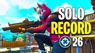 I Beat my Solo Kill Record on Fortnite (26 KILLS)
