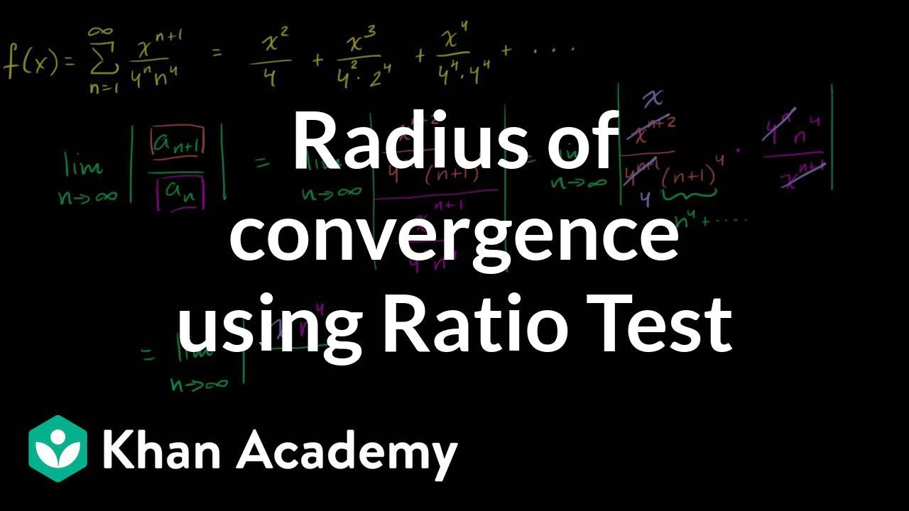 Radius of convergence using Ratio Test
