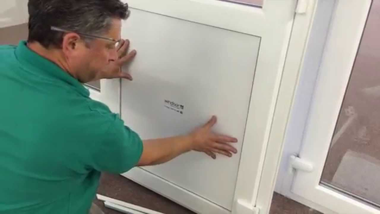 How To Replace A Pvc Door Panel Youtube