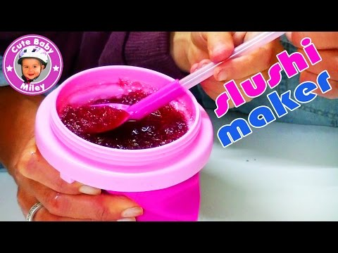 Slushy Maker Magic Freez Chillfactor - Slush Eis Becher Tuttifrutti - Kinderkanal