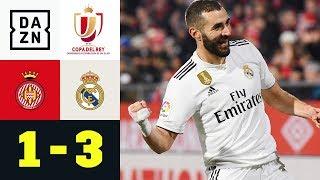 Karim Benzema trifft doppelt: FC Girona - Real Madrid 1:3 | Copa del Rey | DAZN Highlights