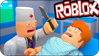 THE WORLD'S MOST DANGEROUS DIED DOCTOR IN ROBLOX! BEBE VITA AND ADRI ESCAPE FROM MALVADO DOCTOR PC