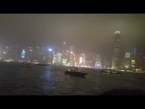 Symphony of Lights, Light show, Victoria Harbour, Hong Kong, 2017