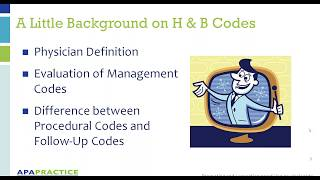 Getting Reimbursed - How to Effectively Use H&B codes