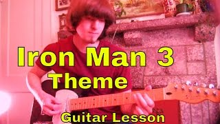 Iron Man 3 Theme - Guitar Lesson
