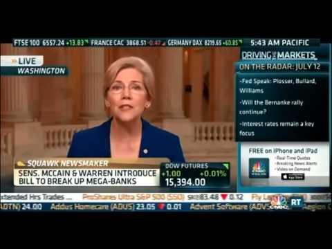 Senator Elizabeth Warren   Reinstating Glass Steagall   CNBC