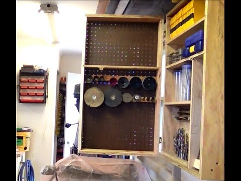 Diy Drill Press Bit Cabinet Finished Part 3 Of 3