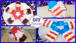 Diy Popsicles! | 4th Of July Treats