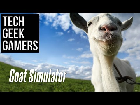 Let's Play Goat Simulator - 4 Player Split Screen - Couch Co Op