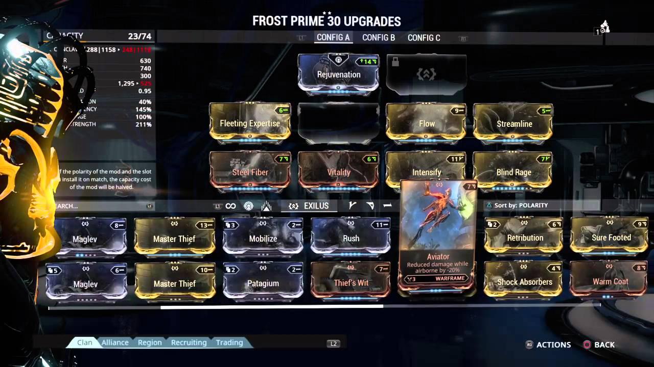 Warframe Frost Globe Build