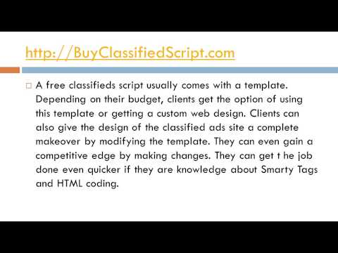 What Is A Free Classifieds Script And What Are Its Benefits?