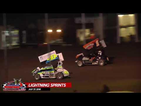 NLSA Lightning Sprints - River Cities Speedway - July 27, 2018