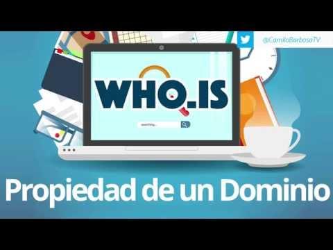Quien es el dueño de un dominio ? - WHOIS
