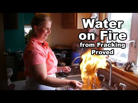 Light Your Water On Fire from Gas Drilling, Fracking