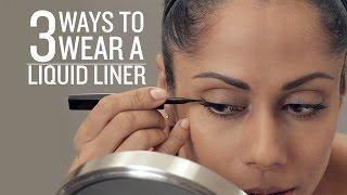 3 Ways To Wear Liquid Liner Eye Makeup Basics Glamrs