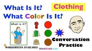 Clothing and Colors   Singular Nouns   Vocabulary-Based Conversations   ESL   EFL   ELL