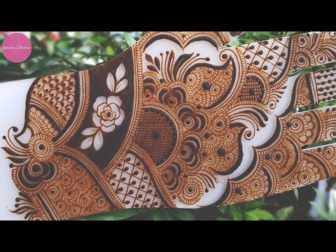 Heavy Indian mehendi design| Henna tutorials, classes and lessons by Devaky S Dharan