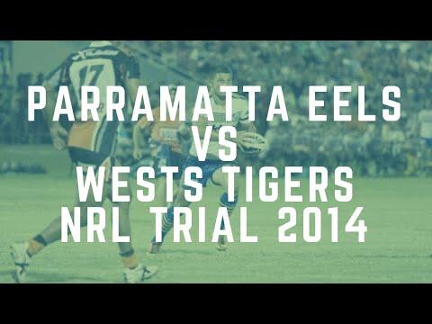 Parramatta Eels vs Wests Tigers Highlights - NRL Trial 2014