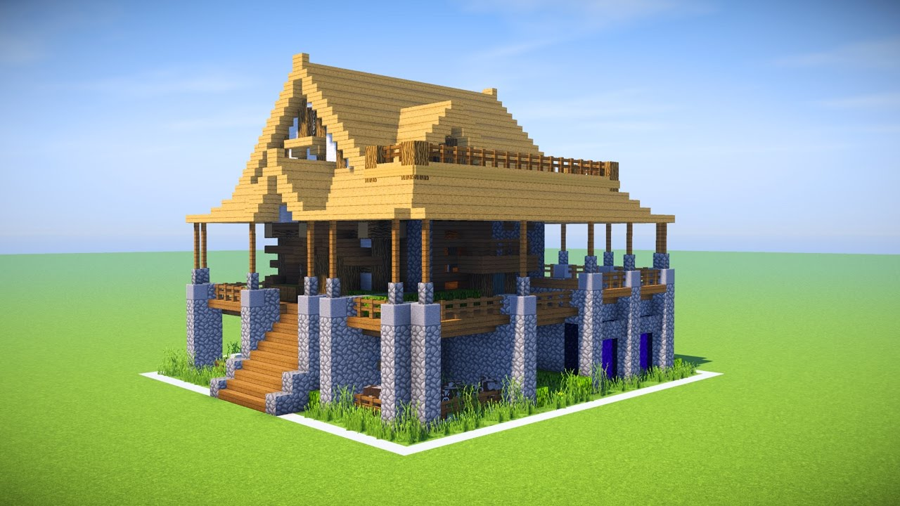 Minecraft Big Survival House Tutorial How To Make A