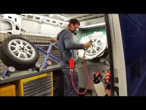Mobile Alloy Wheel Repair Van Installation: smart-repairtraining.com