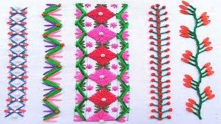 Pretty Hand Embroidery,Bead embroidery,Modern Borderline Embroidery tutorial,हाथ की कढ़ाई,হাতের নকশা