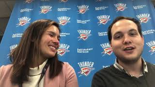 OKC Thunder - Thunder outmuscles 76ers (Game 12 of 82)
