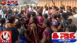 Full Josh At 1st Phase Of Panchayat Elections | Teenmaar News | V6 News