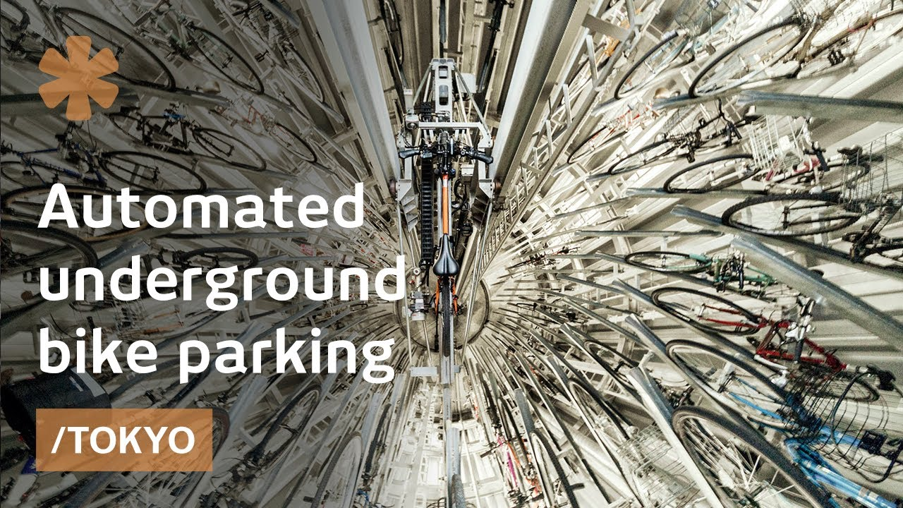 Mechanical Underground Bike Parking Maximizes Space In