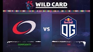 compLexity vs OG Game 1 - DOTA Summit 8: Wild Card Finals - @GranDGranT @Bulba @No[o]ne @Lil