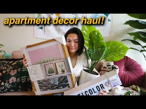 Huge Apartment Decor Haul! Apartment decorating!